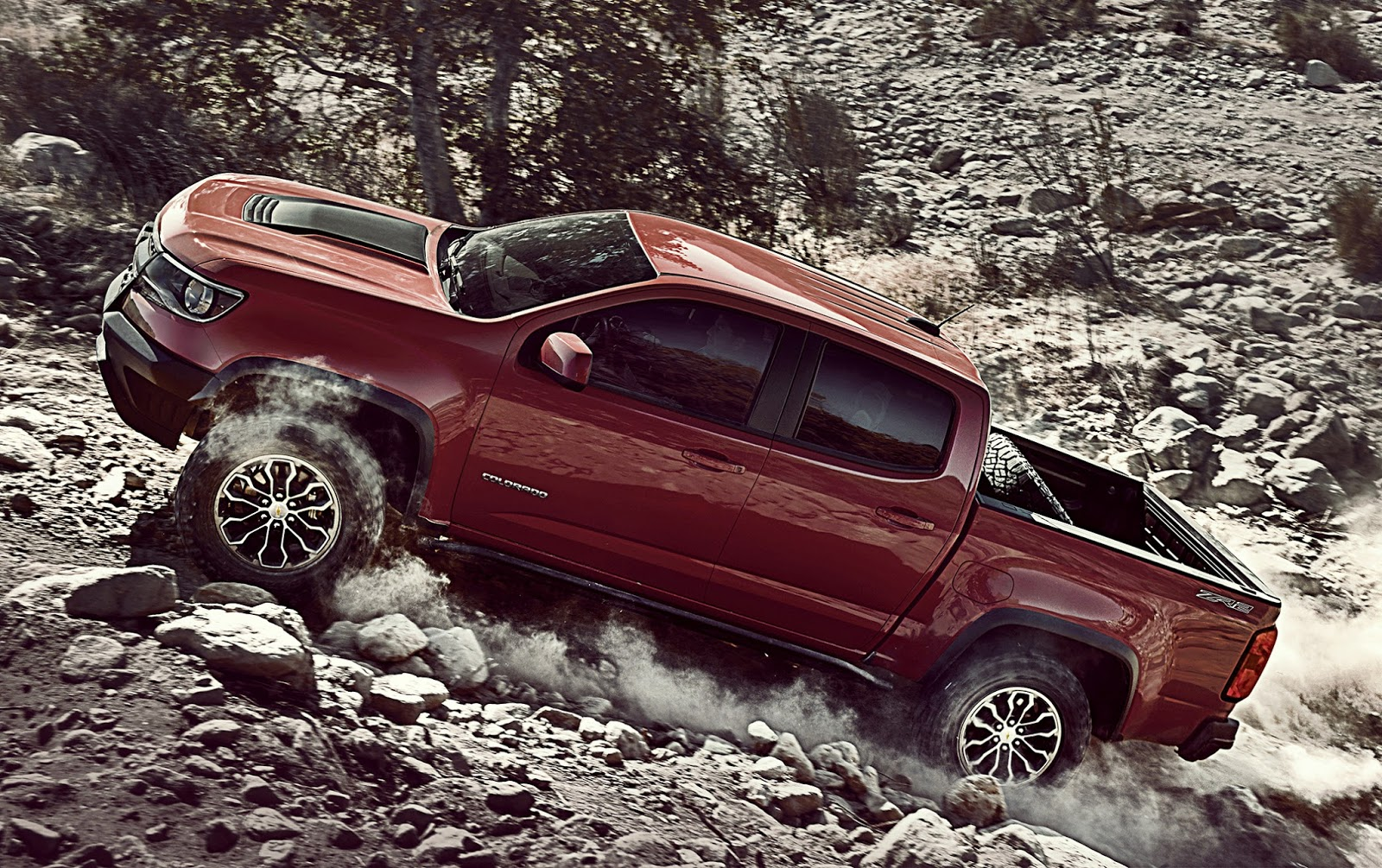 New colorado zr2 a segment of one among off road pickups new performance variant of the chevrolet colorado excels in tight two tracks