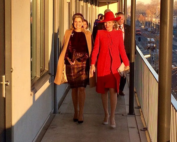 Queen Maxima wore Natan skirt dress, and Queen Mathilde wore Natan dress in red