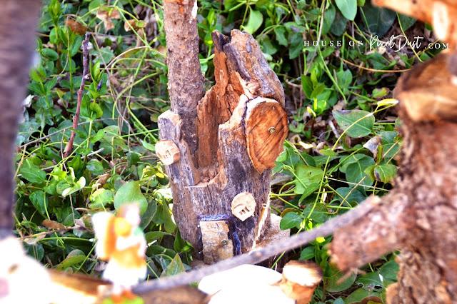 DIY Fairy Garden Houses From Left Over Fire Wood (Guest Artist)