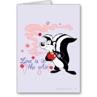 Pepe Le Pew Love Is In The Air  - Funny Valentine's Day Card