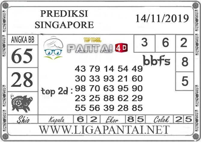 """PREDIKSI TOGEL """"SINGAPORE"""" PANTAI4D 14 NOVEMBER 2019"""