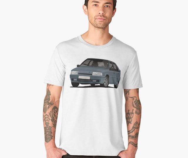 Cornering Citroen BX GTi t-shirt - gray