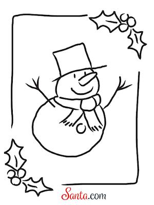 Santa.com Frosty The Snowman Printable