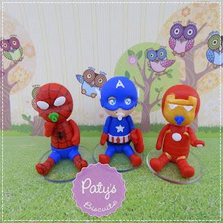 Lembrancinhas Super Heróis Baby - Lembrancinhas para festa infantil - Paty's Biscuit