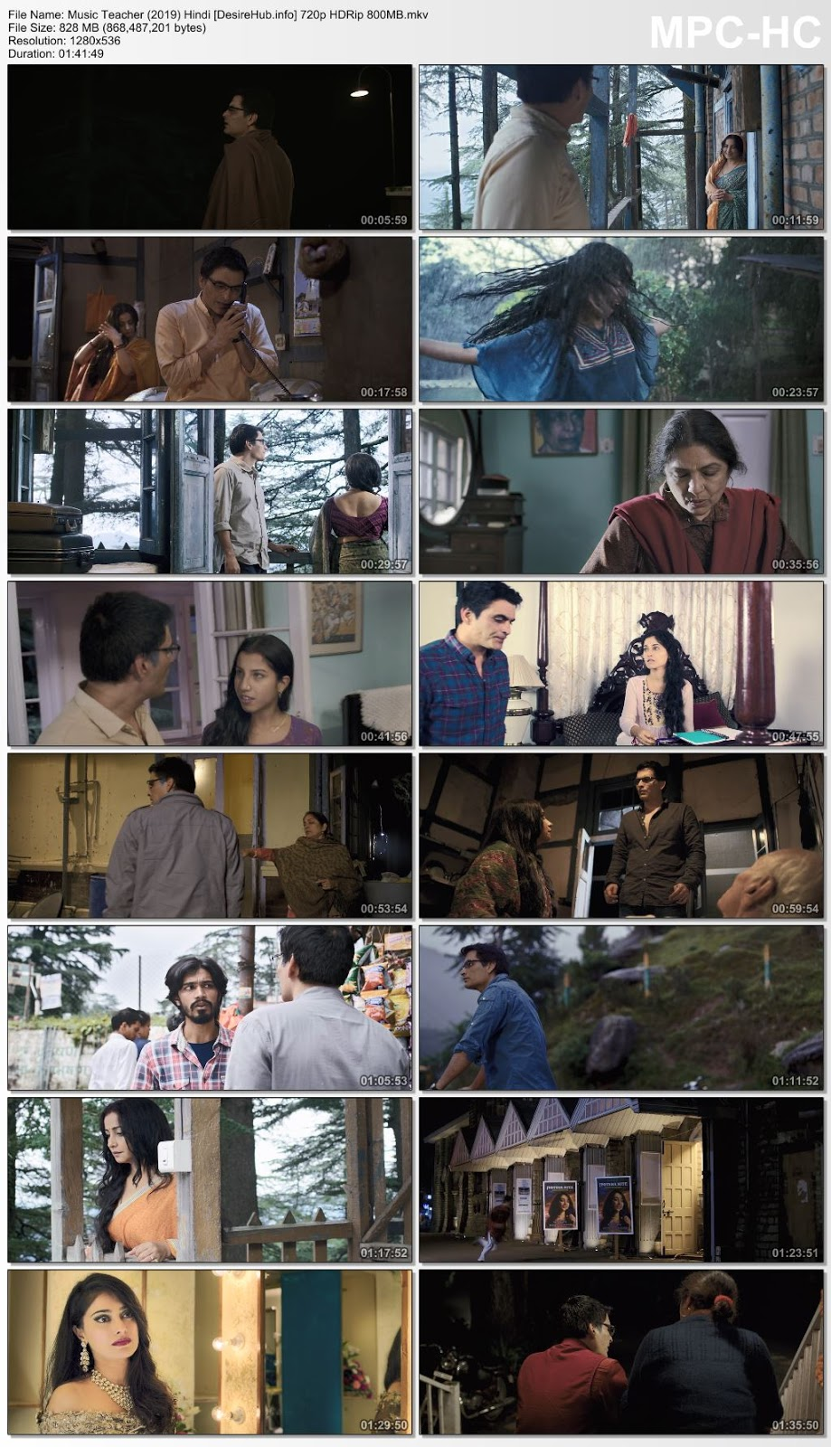Music Teacher (2019) Hindi 720p HDRip 800MB Desirehub