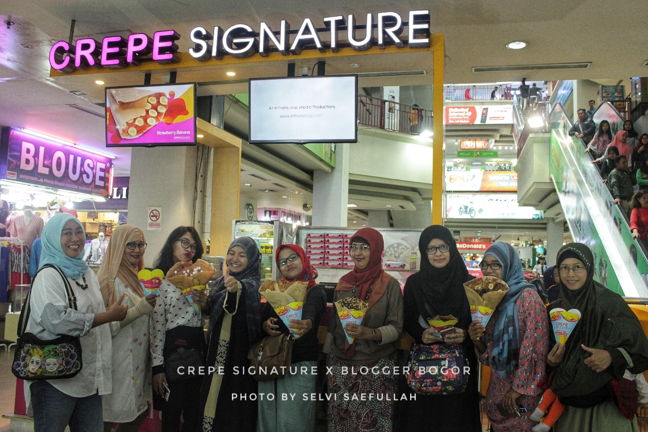 Blogger Bogor di Crepe Siganture
