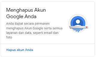 Langkah menghapus akun dan layanan google 2019