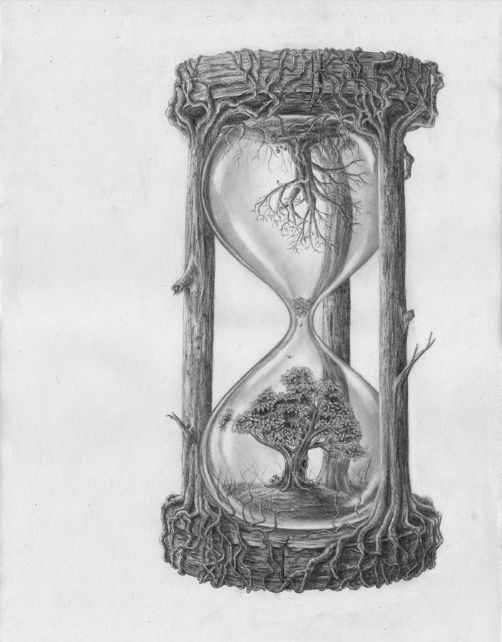 dibujos de tatuajes de relojes de arena