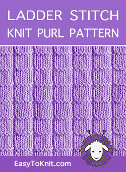 Knit Purl 35 Ladder Easy To Knit