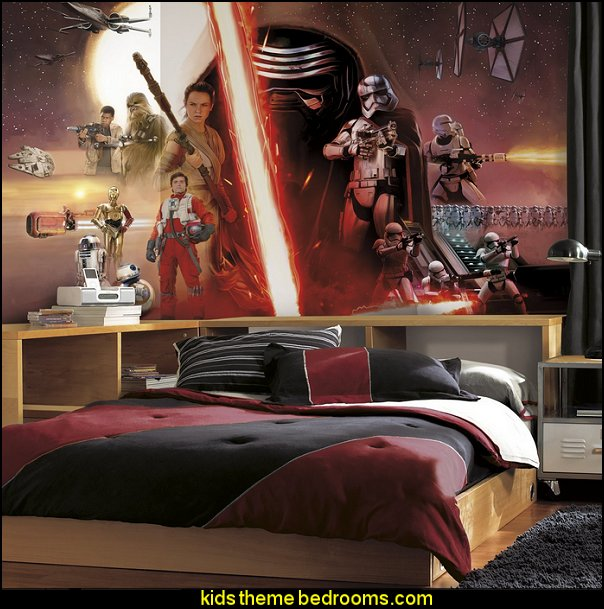 Star Wars EP VII Prepasted Surestrip Mural star wars bedroom decorations