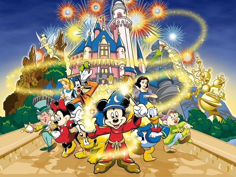 Walt Disney World Walt Disney World Cartoon Wallpaper