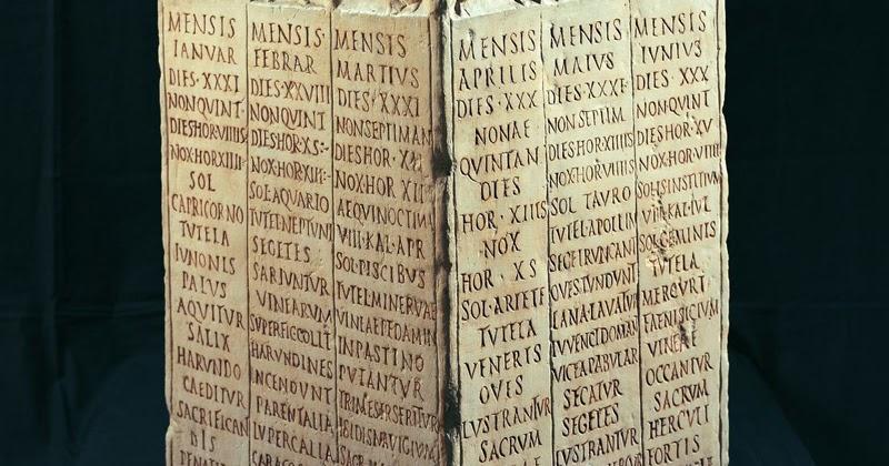 Calendario Romano.Di Mistero In Mistero Calendario Romano