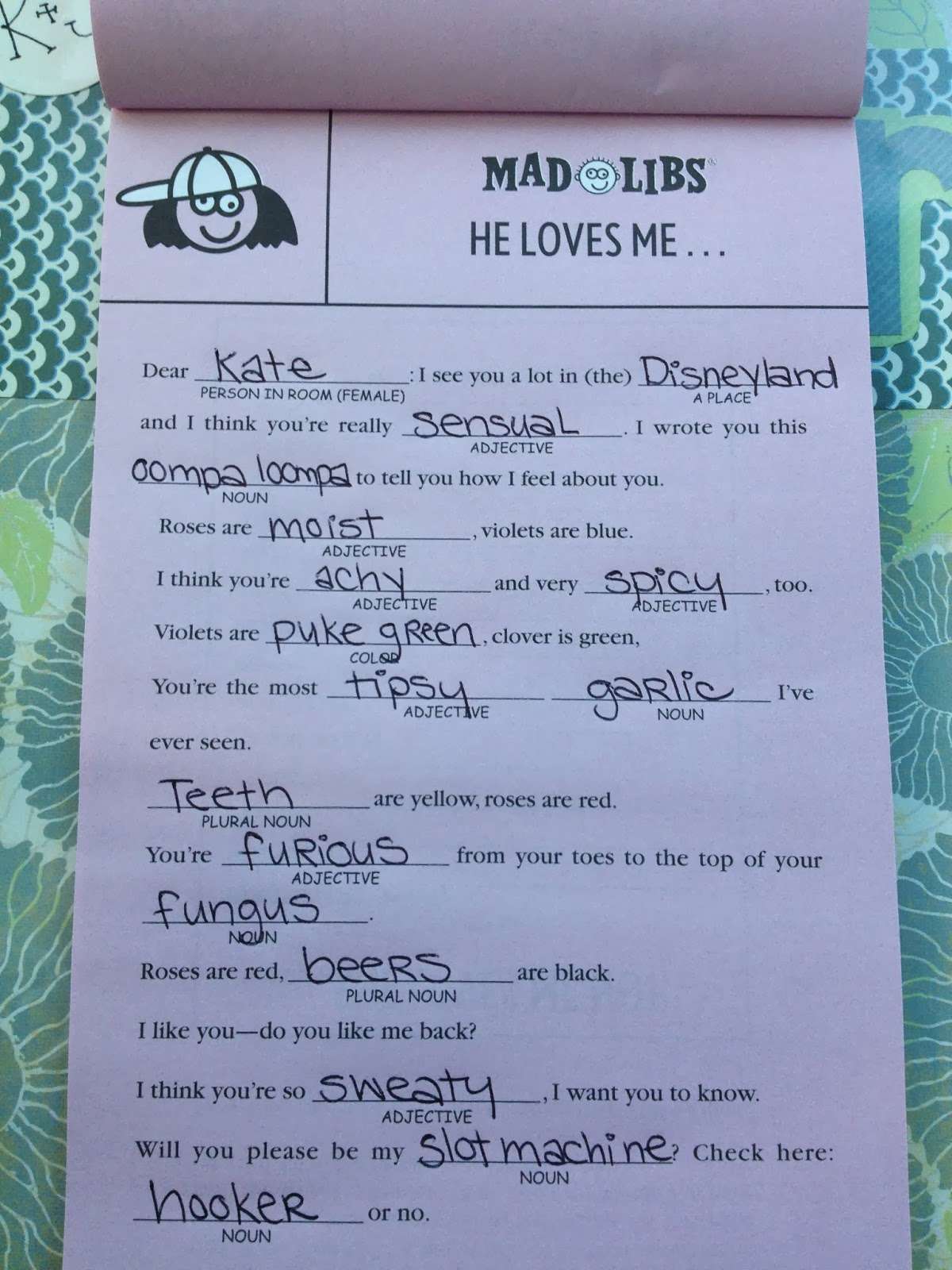 Diary Of A Dental School Wife Mad Libs Date