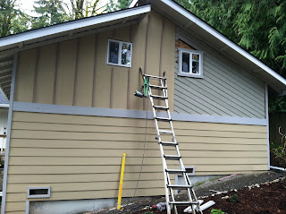 Giving A House New Life Siding And Paint Before During
