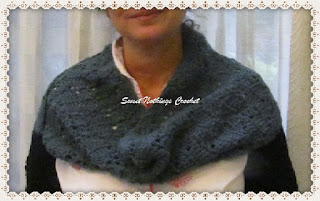 crochet sleeved infinity cowl