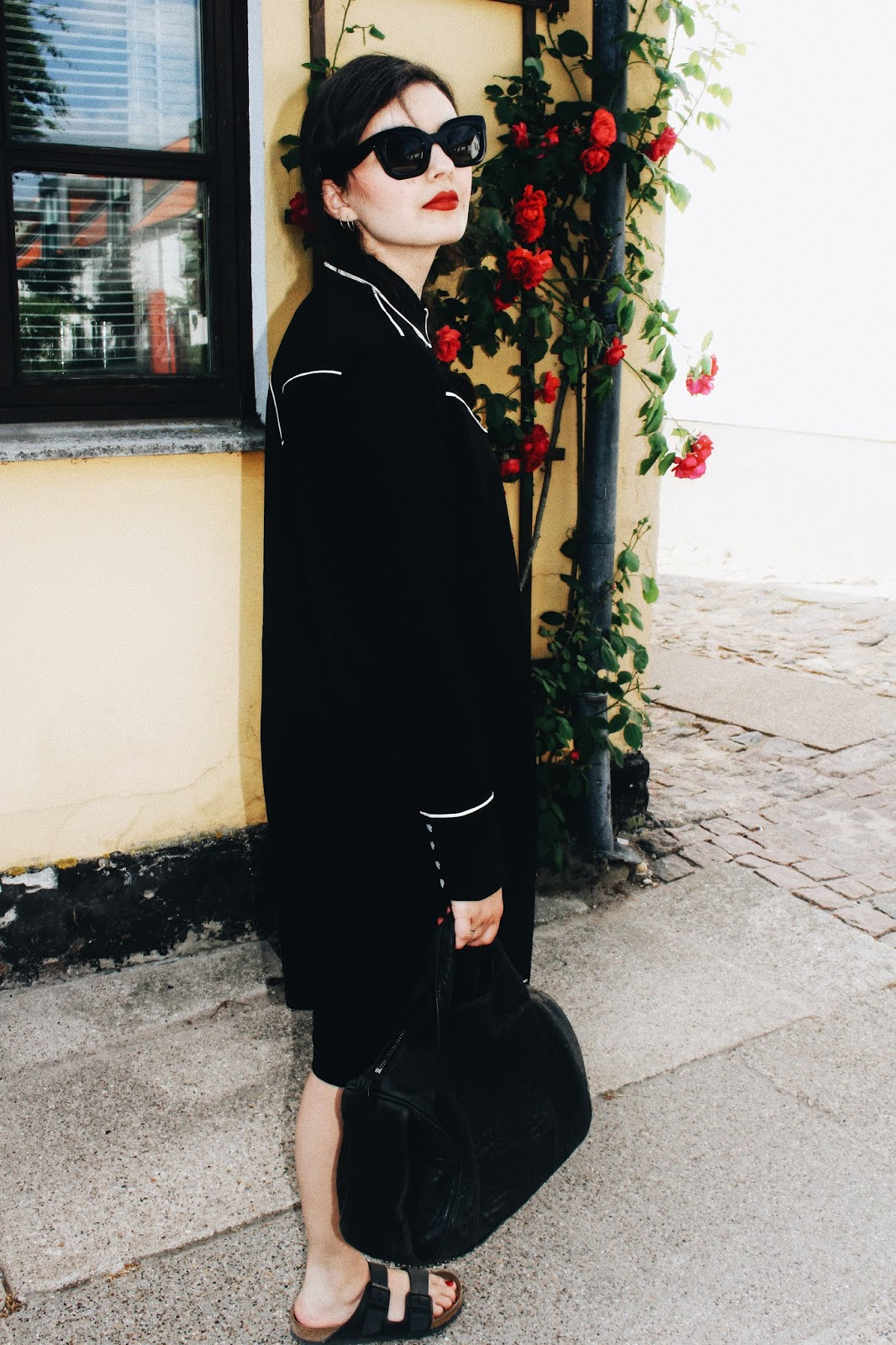 Em's Wardrobe, Western trend, ss18, cowboy dress, Monki, western dress, red lips, birkenstock, sandals, Alexander wang, rocco bag, danish, scandinavian, style, ootd, fashion, blogger