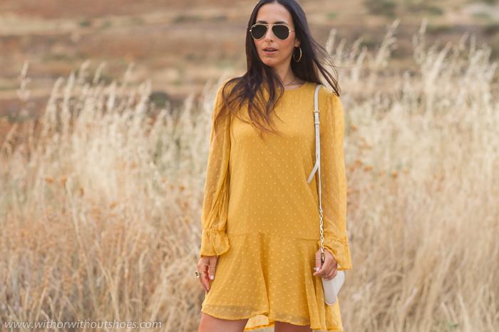 COmo combinar un vestido amarillo moszata
