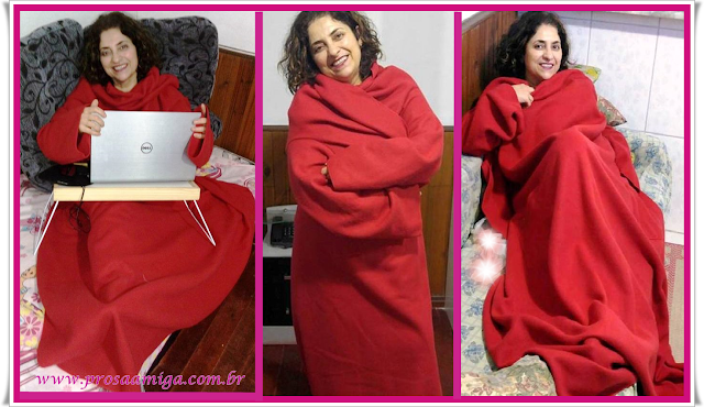 Cobertor em Soft com Manga