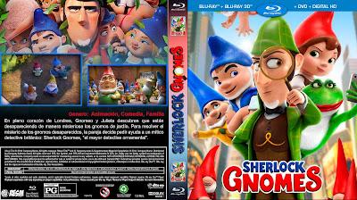 CARATULA - GNOMEO Y JULIETA: SHERLOCK GNOMES -Gnomeo & Juliet: Sherlock Gnomes - 2018