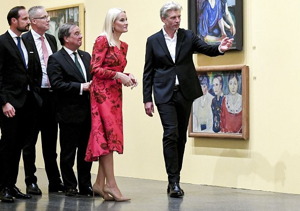 Crown Princess Mette-Marit wore H&M floral print midi dress from Conscious Exclusive collection