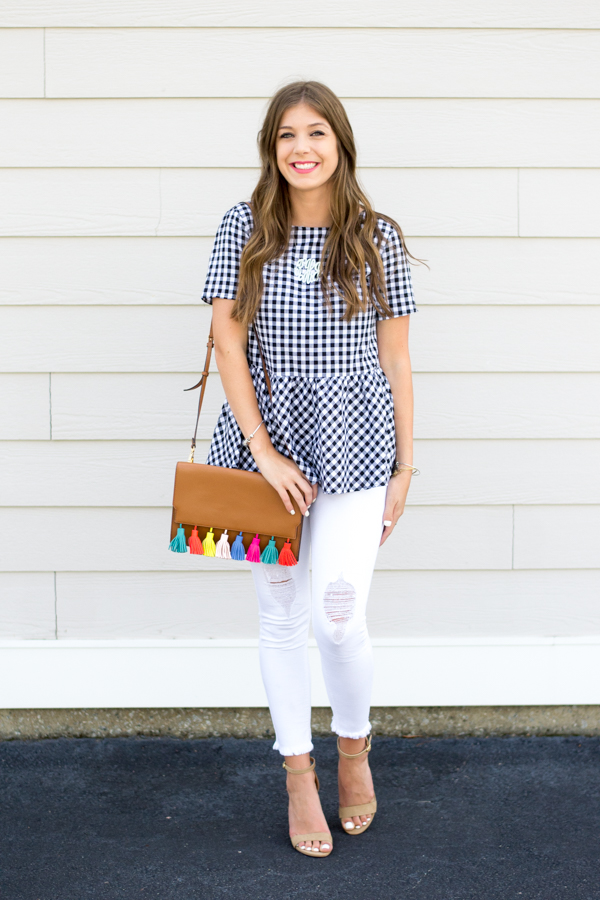 Gingham & Bowties by Charleston fashion blogger Kelsey of Chasing Cinderella