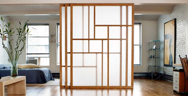 Vách ngăn phòng ngủ bằng gỗ 04