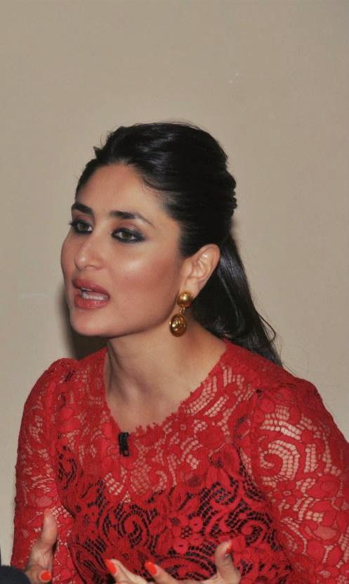 Kareena Kapoor Stills In Red Dress