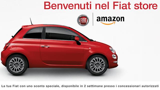 Amazon apre il suo Fiat Store auto online