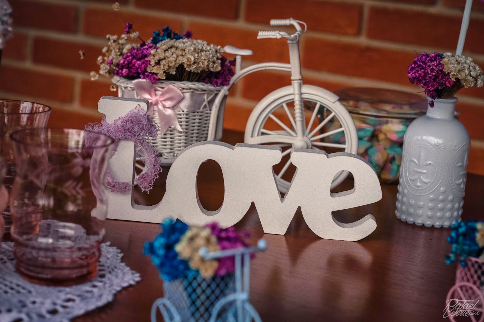 noivado-rosa-azul-decoracao-palavra-love-mdf