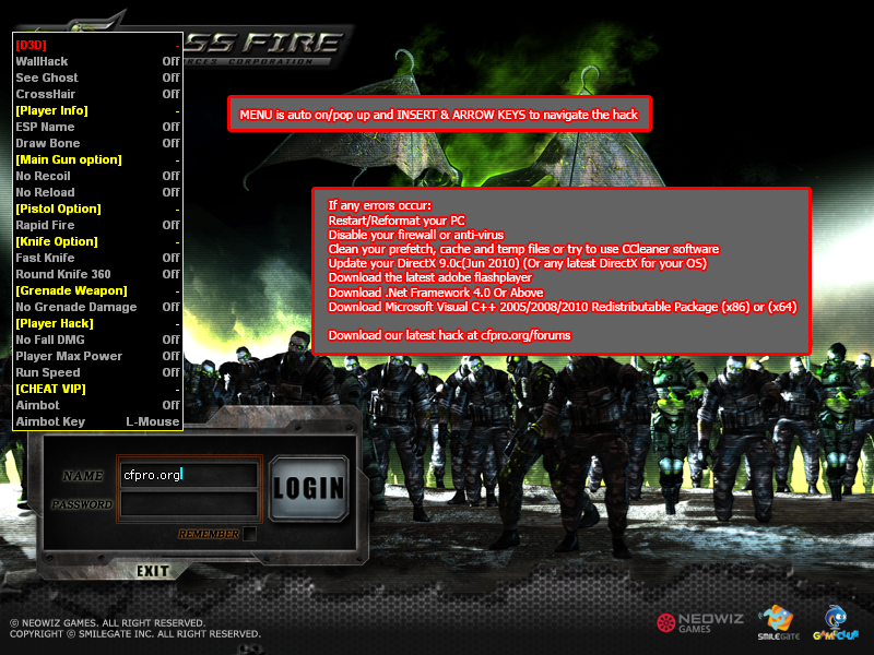 D3D Cheat For Crossfire Vip hack