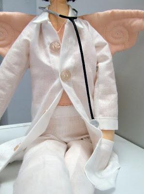 Krysia to uszyła na zamówienie - anielica lekarka tilda ze wspaniałym stetoskopem