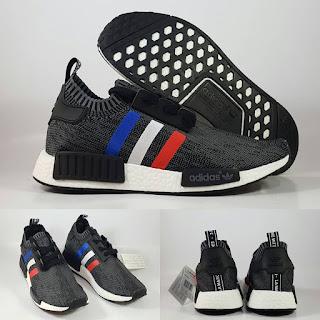 Adidas NMD Runner Tricolor Grey Sepatu Running  Premium , jual adidas nmd , adidas nmd runner, adidas nmd replika, replika premium, harga adidas nmd , adidas nmd tricolor, tiga warna