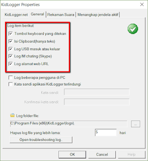 Cara mengontrol Aktivitas Komputer Orang Lain dengan KidLogger