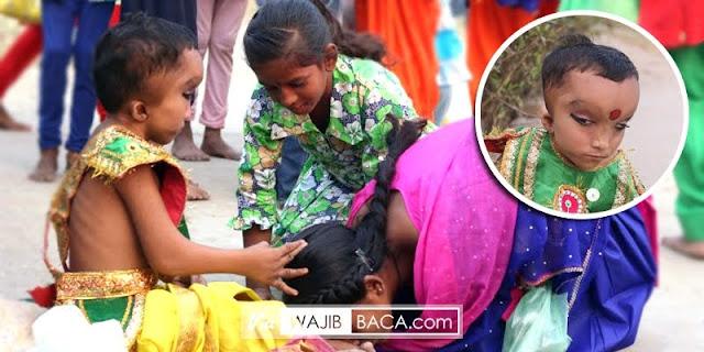Di India, Bocah Ini Disembah Gara-gara Mirip Dewa Ganesha