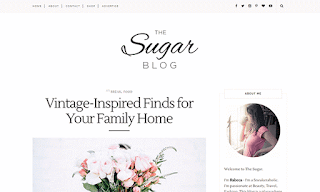 Sugar Minimal Blogger Template
