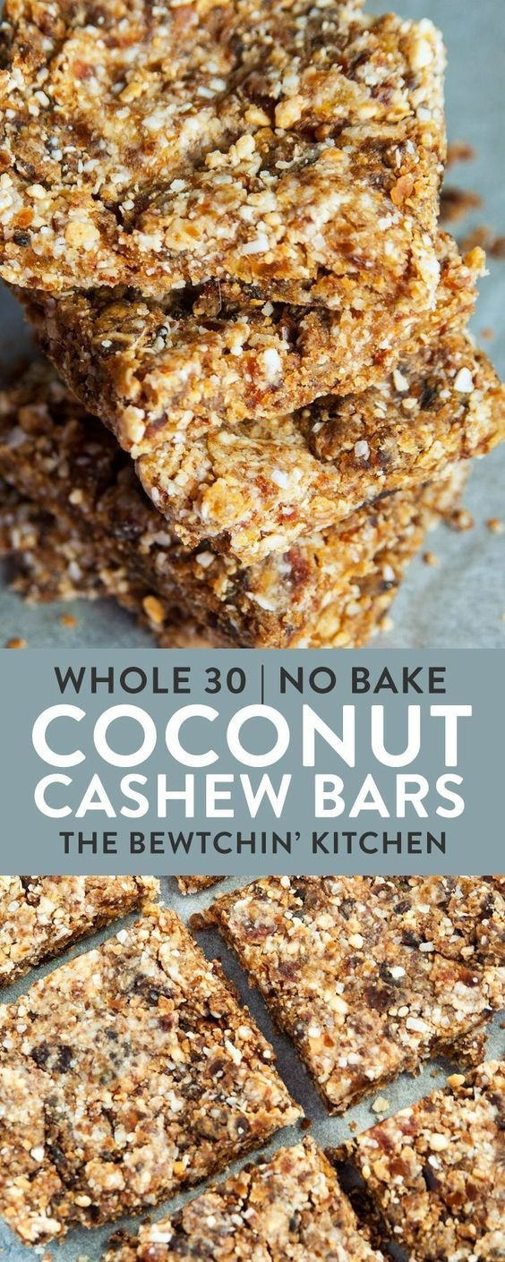 NO BAKE-Coconut Cashew Bars
