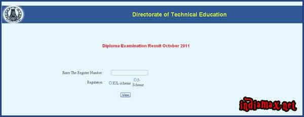 TNDTE Diploma Results 2011 October Tamilnadu Polytechnic DOTE