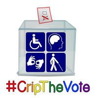 #CripTheVote ballot box logo