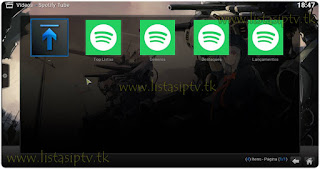 Add-on - Spotify Tube - KODI - Escute as playlist do Spotify no Kodi