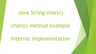 Java String chars() method example