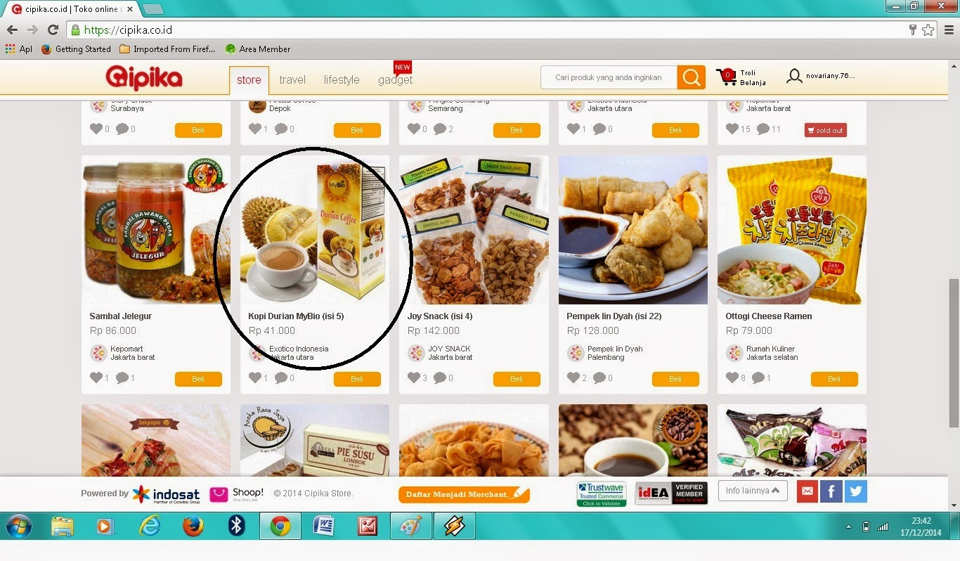 Cipika.co.id Produk unggulan Kopi durian