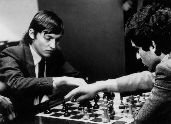 Anatoli Karpov face à Garry Kasparov - Photo © Kasparov.com