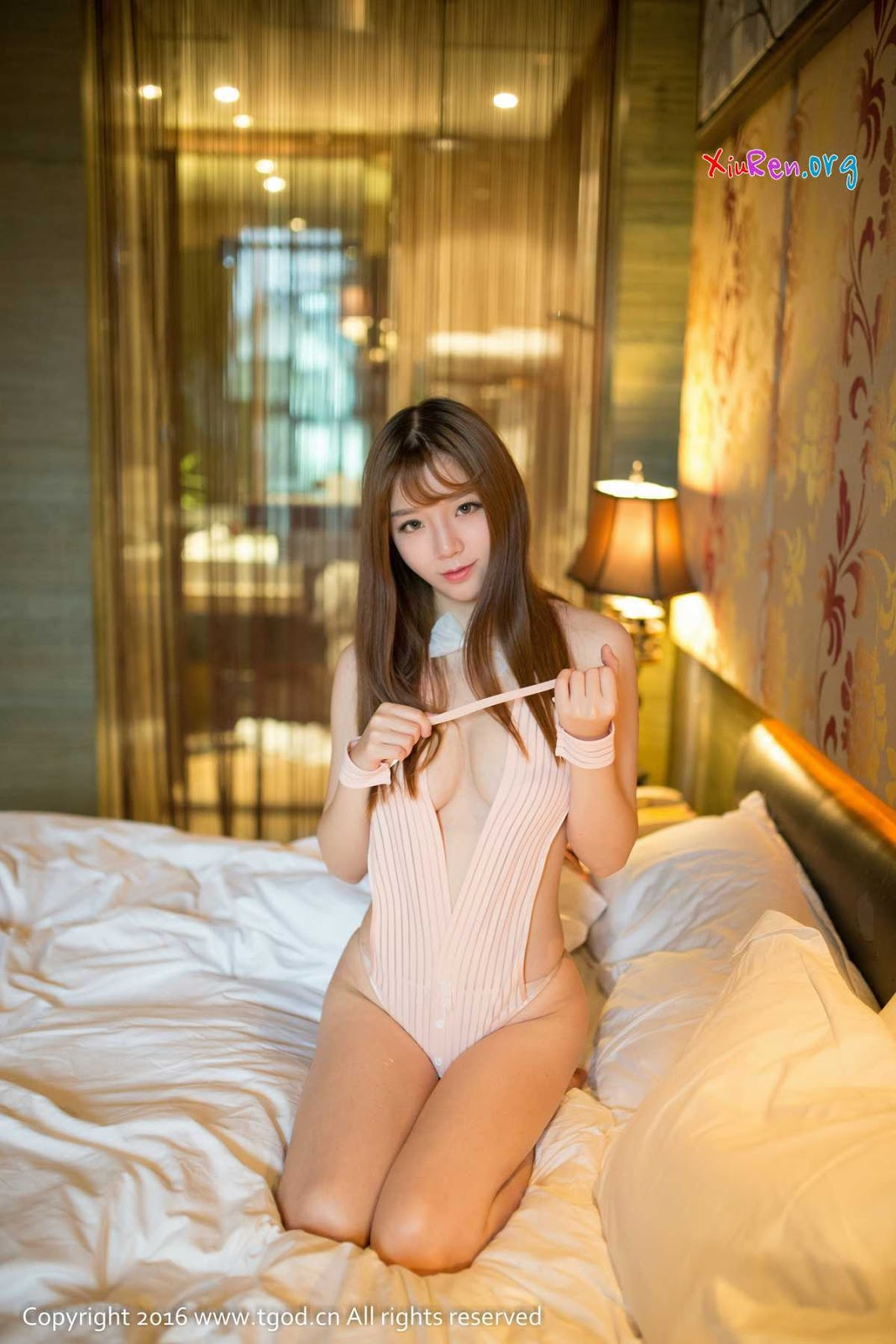 Archived: Tong Yan Chinese Girls Young and Beauty in Caramel Lingerie for TGOD