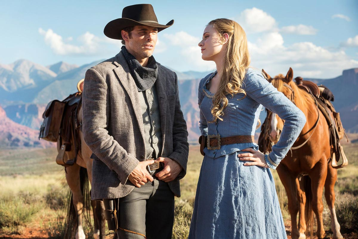 WESTWORLD - serie - James Marsden y Evan Rachel Wood