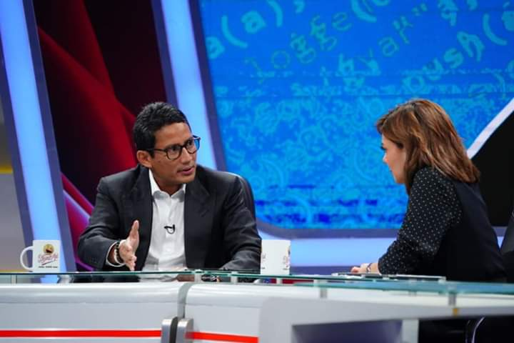 Diberondong Pertanyaan, Ini Pujian dan Tantangan Sandi kepada Mata Najwa