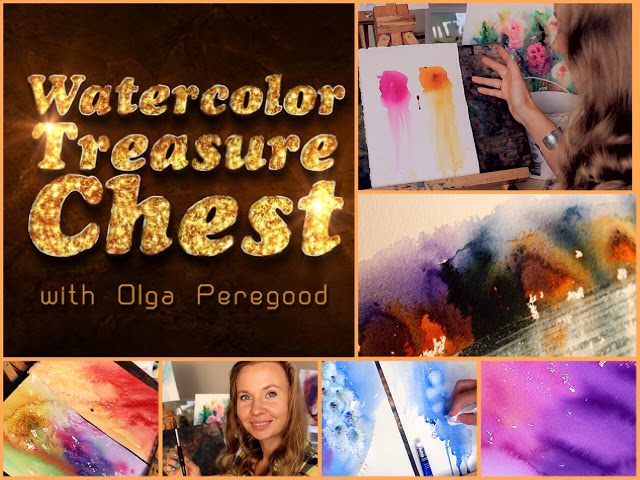 I was invited to teach a class how to paint with water colors. So for the last month, I've poured my heart into creating Watercolor Treasure Chest: Discover Watercolor As A Treasure In 7 Steps