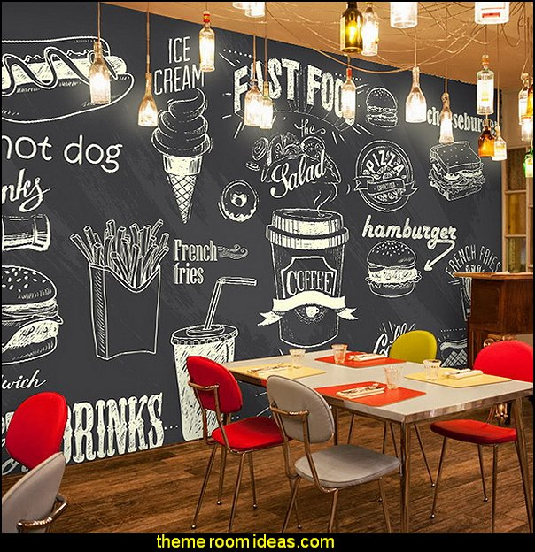 blackboard wallpaper murals food wallpaper murals bistro kitchen cafe kitchen wall murals