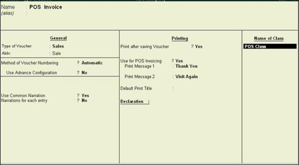 Lesson-36 How to Create POS Invoice - Tally Knowledge