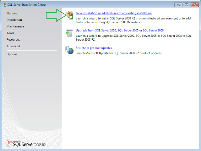 SQL Server 2008 R2 Installation New Install Start