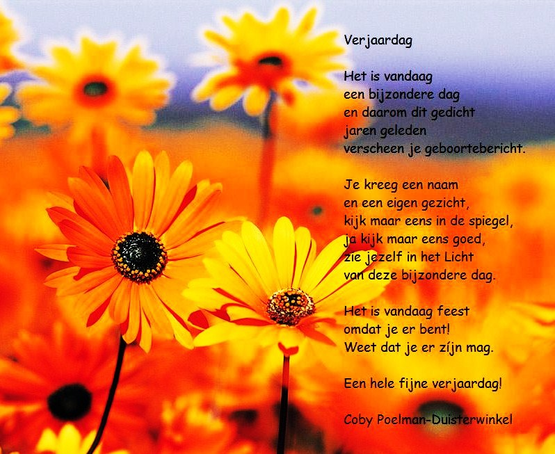 Gedicht Verjaardag Vrouw